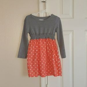 Gray and Coral toddler dress